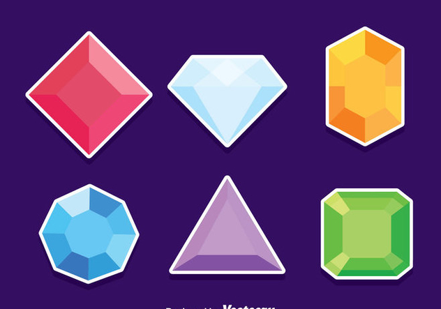 632x443 Gem Stone Vector Set Free Vector Download 381941 Cannypic