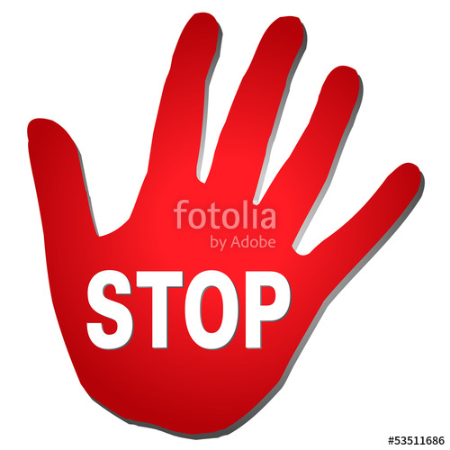 500x500 Red Hand Stop Stock Image And Royalty Free Vector Files On