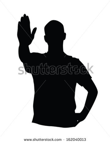 360x470 Stop Hand Silhouette Clipart