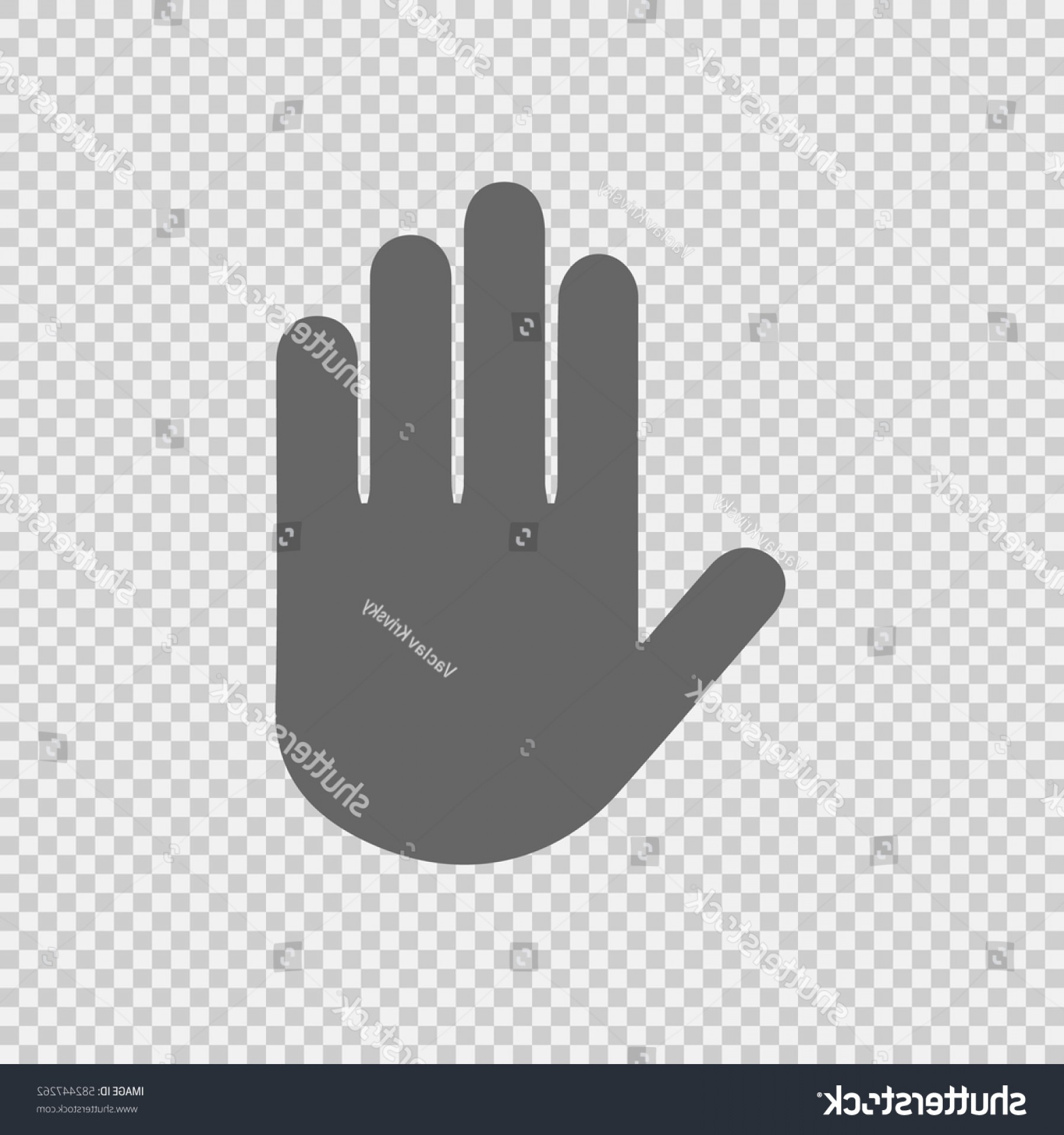 1800x1920 Stop Hand Vector Icon On Transparent Shopatcloth