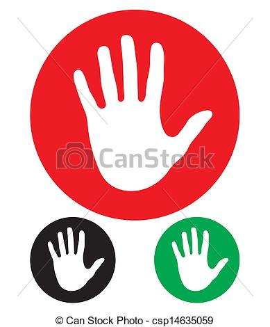 389x470 Stop Hand Sign .