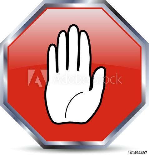 477x500 Stop Hand Vector