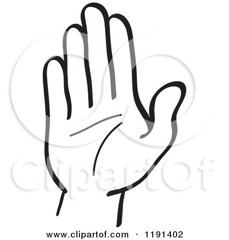 450x470 Hand Gesture Clipart Hand Stop