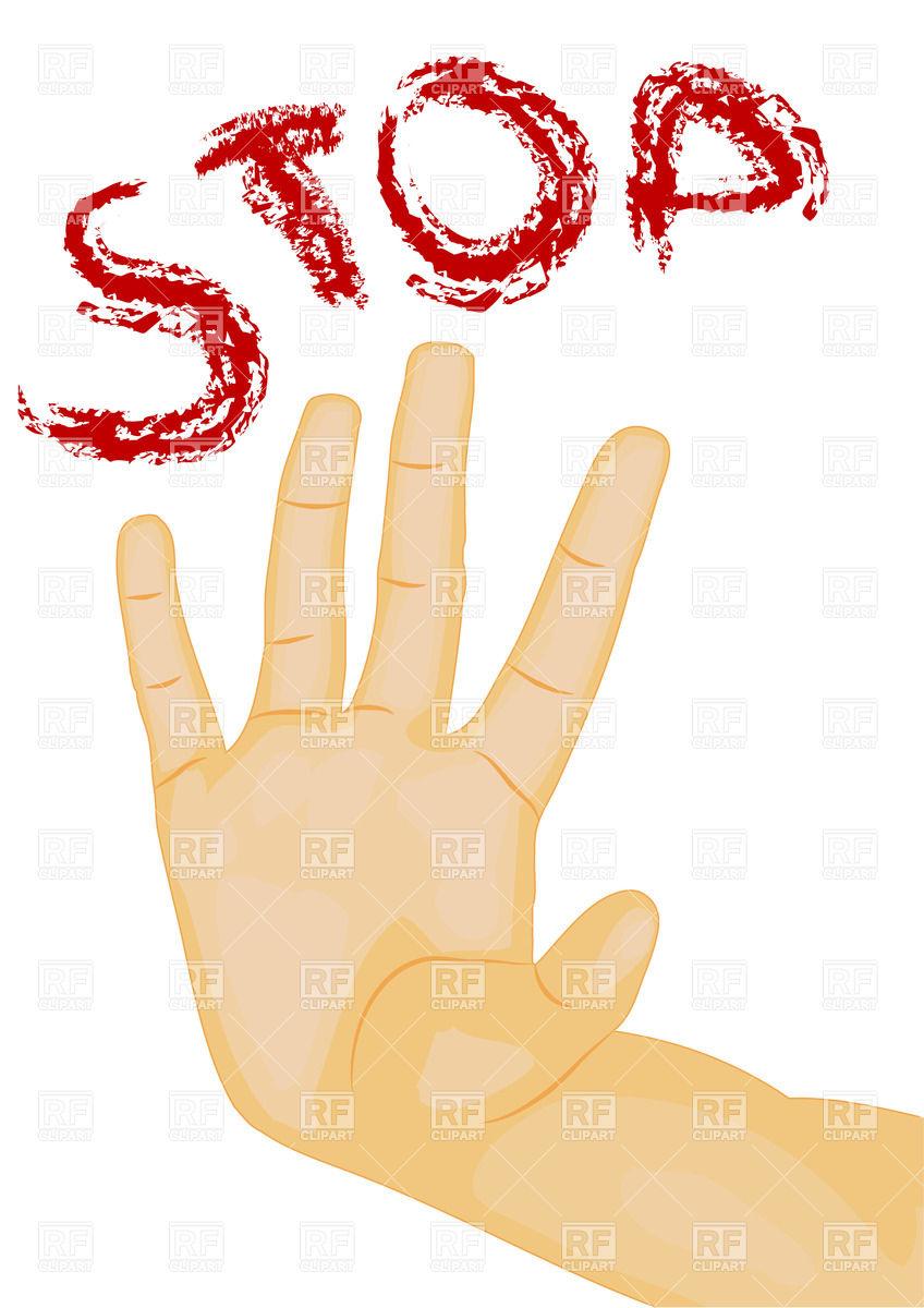 848x1200 Hand Gesture Stop Vector Image Vector Artwork Of People Arkela