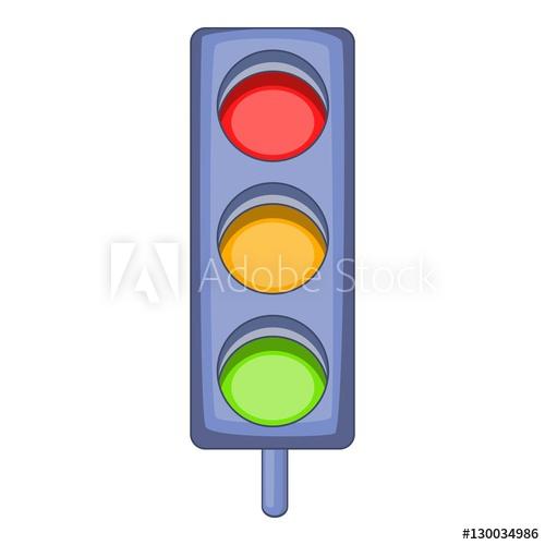500x500 Traffic Light Icon. Cartoon Illustration Of Traffic Light Vector