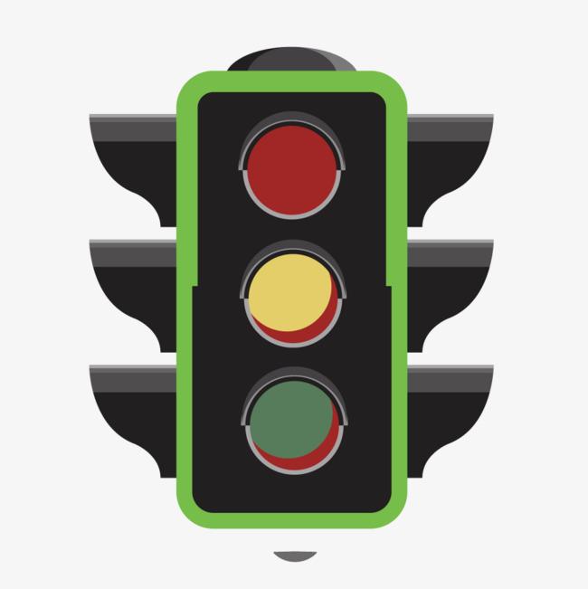 650x651 Vector Cartoon Traffic Light, Cartoon Vector, Light Vector, Road