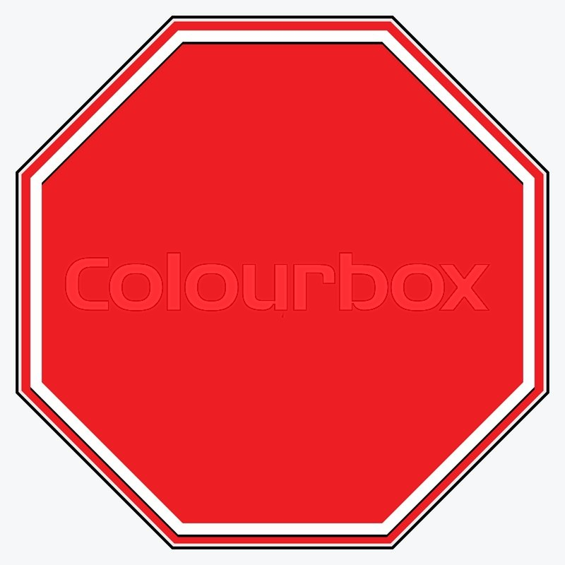 800x800 Blank Stop Sign. Blank Red Octagonal Prohibition, Restriction Road