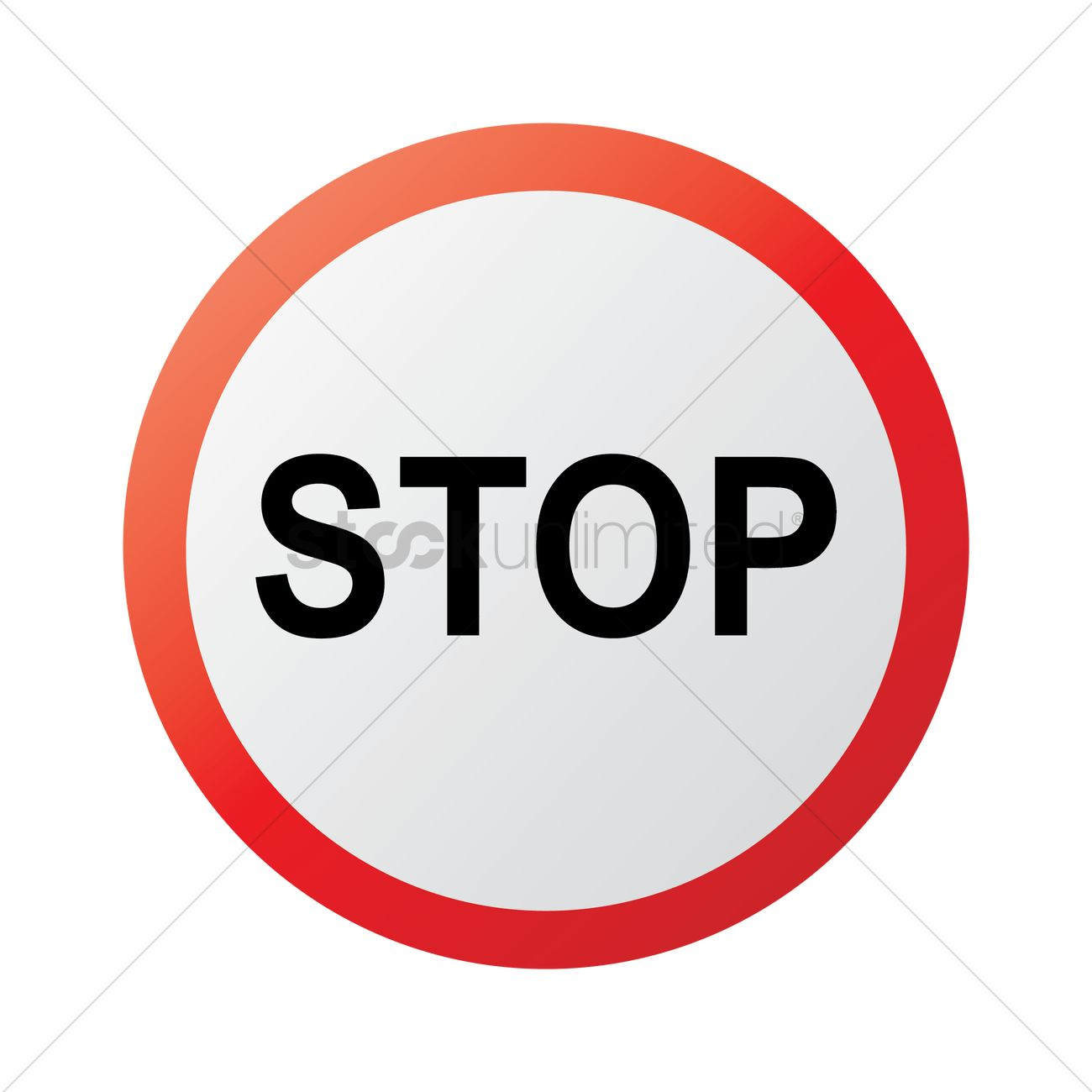 1300x1300 Free Stop Sign Vector Image