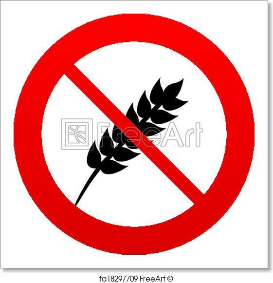 561x581 Free Art Print Of No Gluten Free Sign Icon. No Gluten Symbol. No