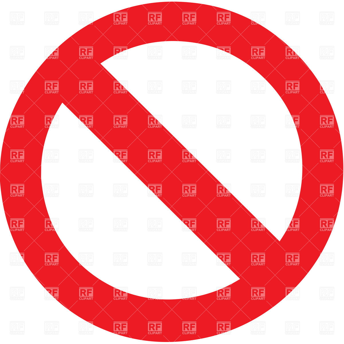1200x1200 Prohibitory (Stop) Sign Vector Image Vector Artwork Of Signs