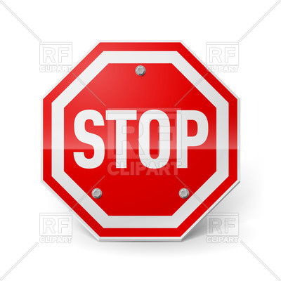 400x400 Shiny Metal Octagonal Stop Sign Vector Image Vector Artwork Of