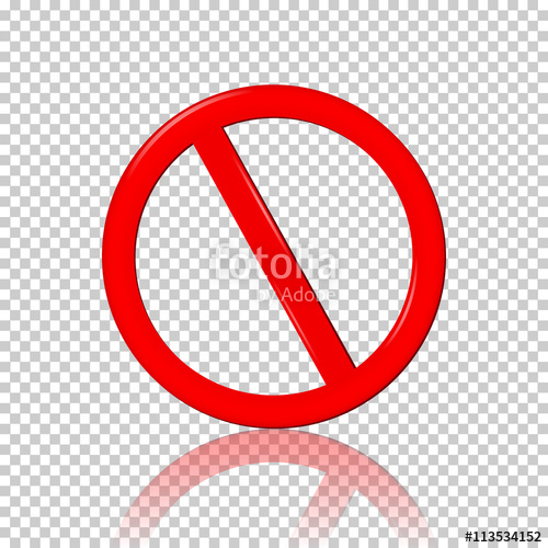 500x500 Stop Sign, Isolated On Transparent Background Stock Image And