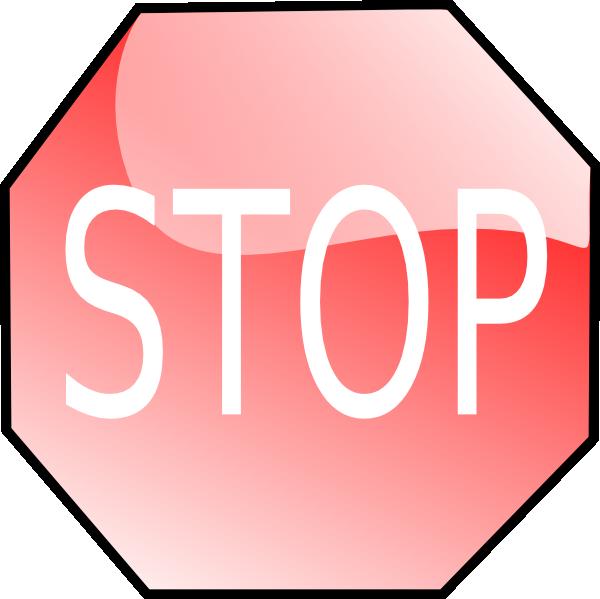 600x599 Stop Sign Clip Art Free Vector 4vector