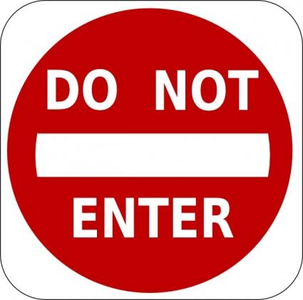 425x421 Download Do Not Enter Sign Clip Art Vector Free