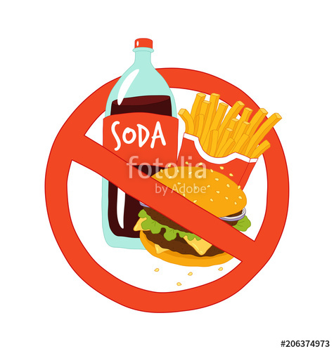 475x500 Fast Food Stop Sign. Vector Illustration. Stock Image And Royalty