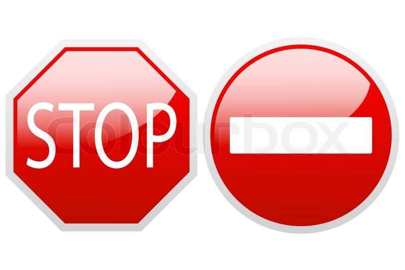 800x533 No Entry End Stop. Vector. Stock Vector Colourbox