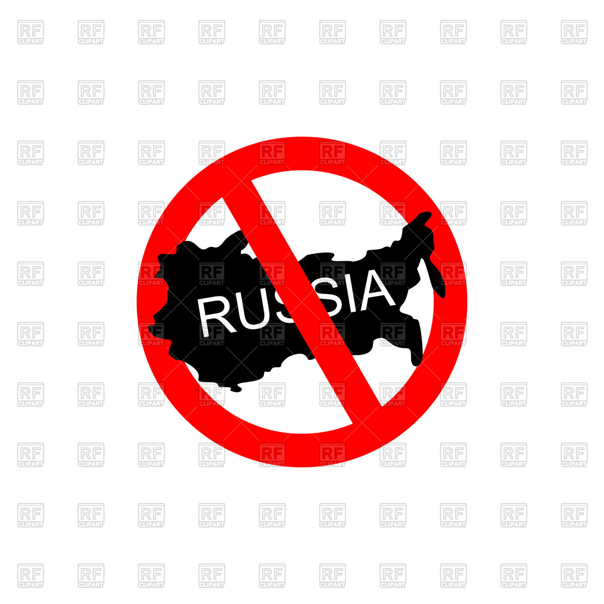 1200x1200 Red Stop Sign With Russia, Stop Russian Aggressors Vector Image