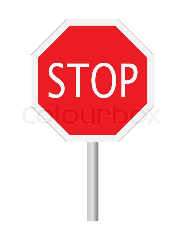 651x800 Vector Stop Sign Symbol Isolated On White Stock Vector Colourbox