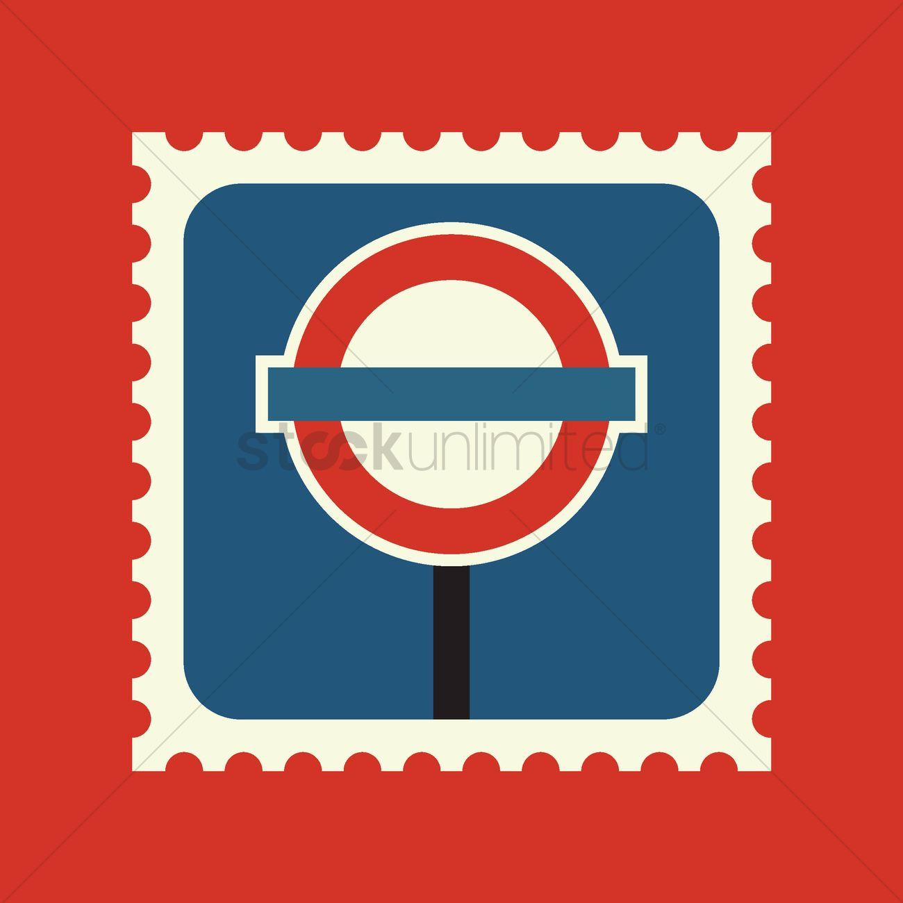 1300x1300 London Bus Stop Sign Vector Image