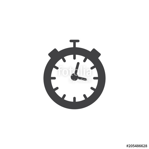 500x500 Stopwatch Vector Icon. Filled Flat Sign For Mobile Concept And Web