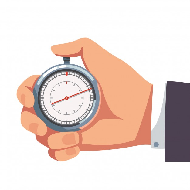 626x626 Businessman Holding Thumb Finger On Stopwatch Vector Free Download