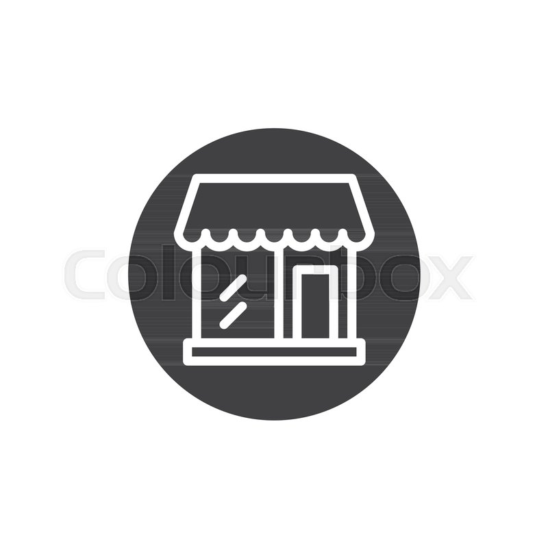 800x800 Grocery Store Icon Vector, Filled Flat Sign, Solid Pictogram