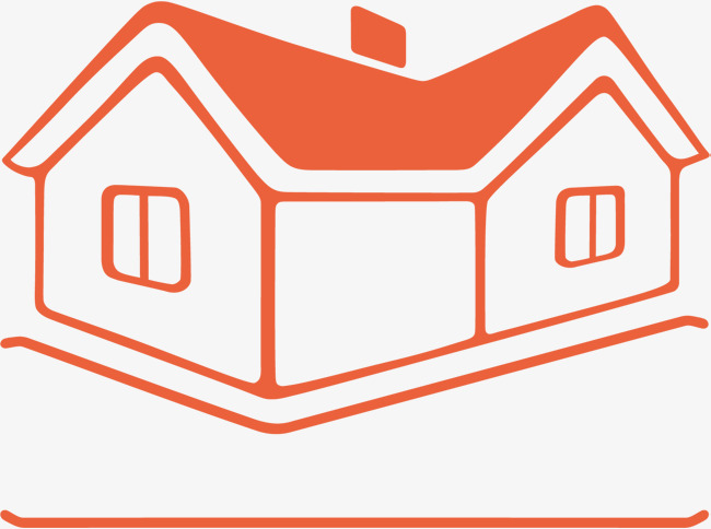650x484 Orange Cartoon Hand Painted District Store Icon, Orange Vector