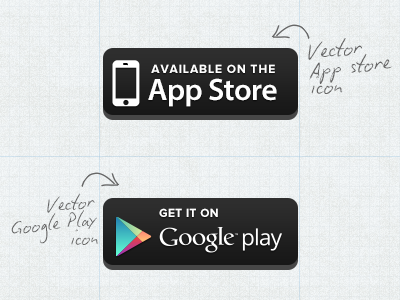 400x300 Free Vector App Store Google Play Button Freebbble