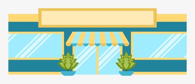 650x283 Vector Delivery Store, Vector, Flat, Storefront Png And Vector For