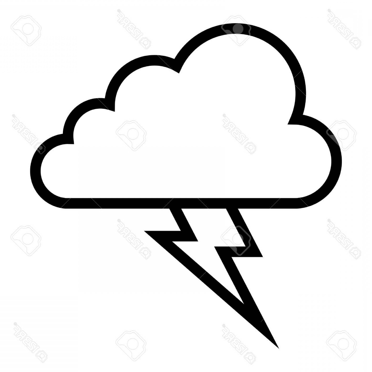 1560x1560 Photostock Vector Storm Cloud Lightning Bolt Arenawp