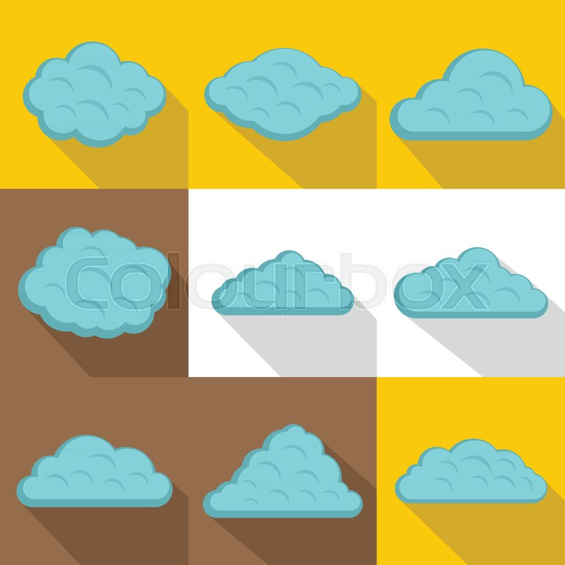 800x800 Storm Cloud Icon Set. Flat Style Set Of 9 Storm Cloud Vector Icons