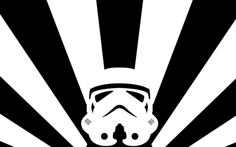 900x563 B W Vector Stormtrooper By Pachyderm11