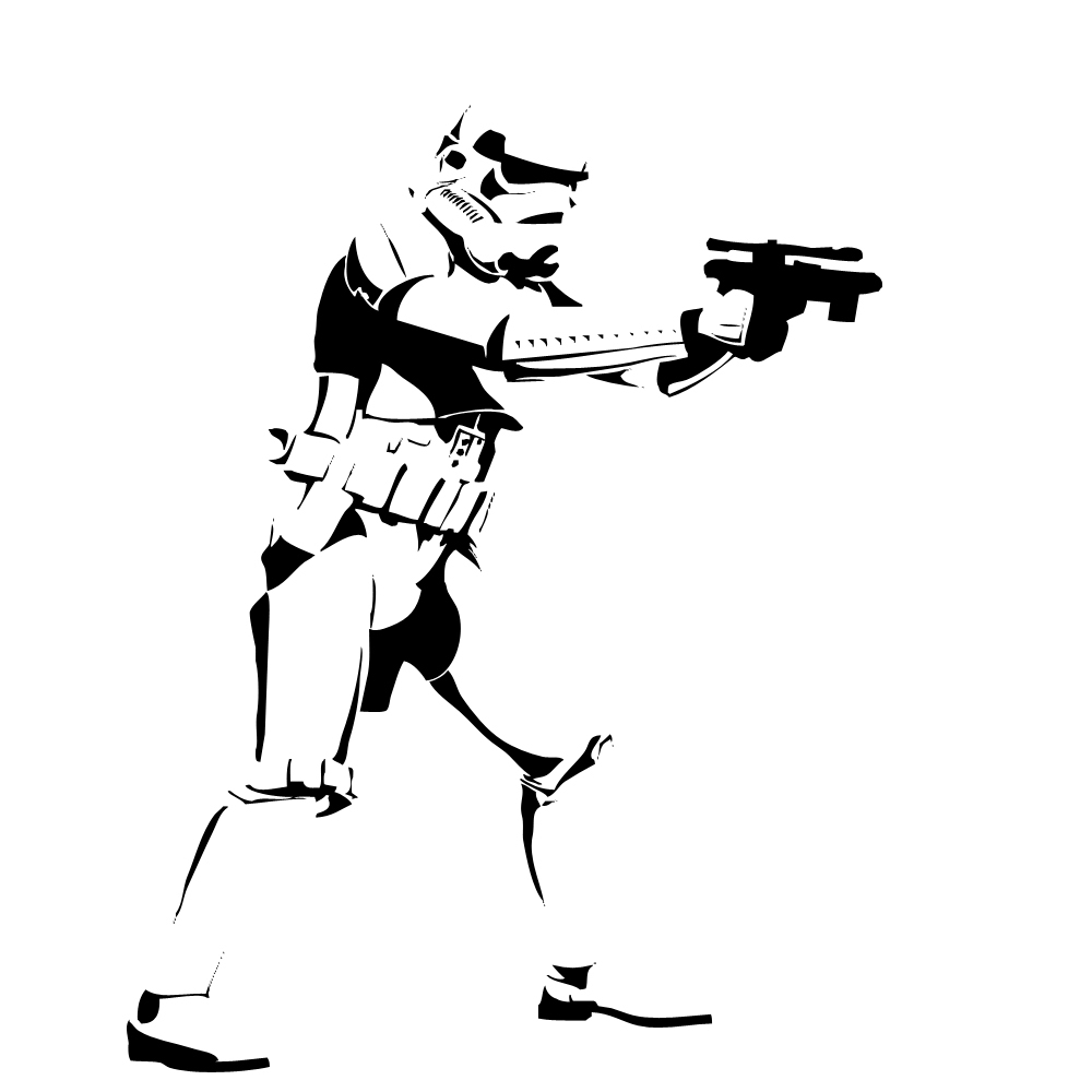 1000x1000 Stormtrooper Clipart Silhouette