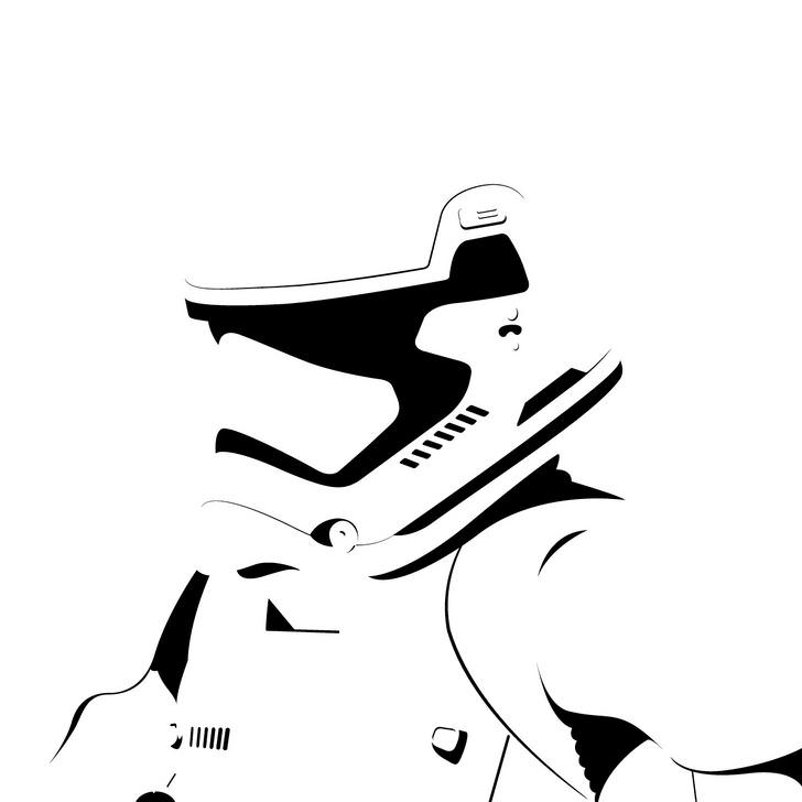 728x728 Vector Stormtrooper From Star Wars The Force Awakens