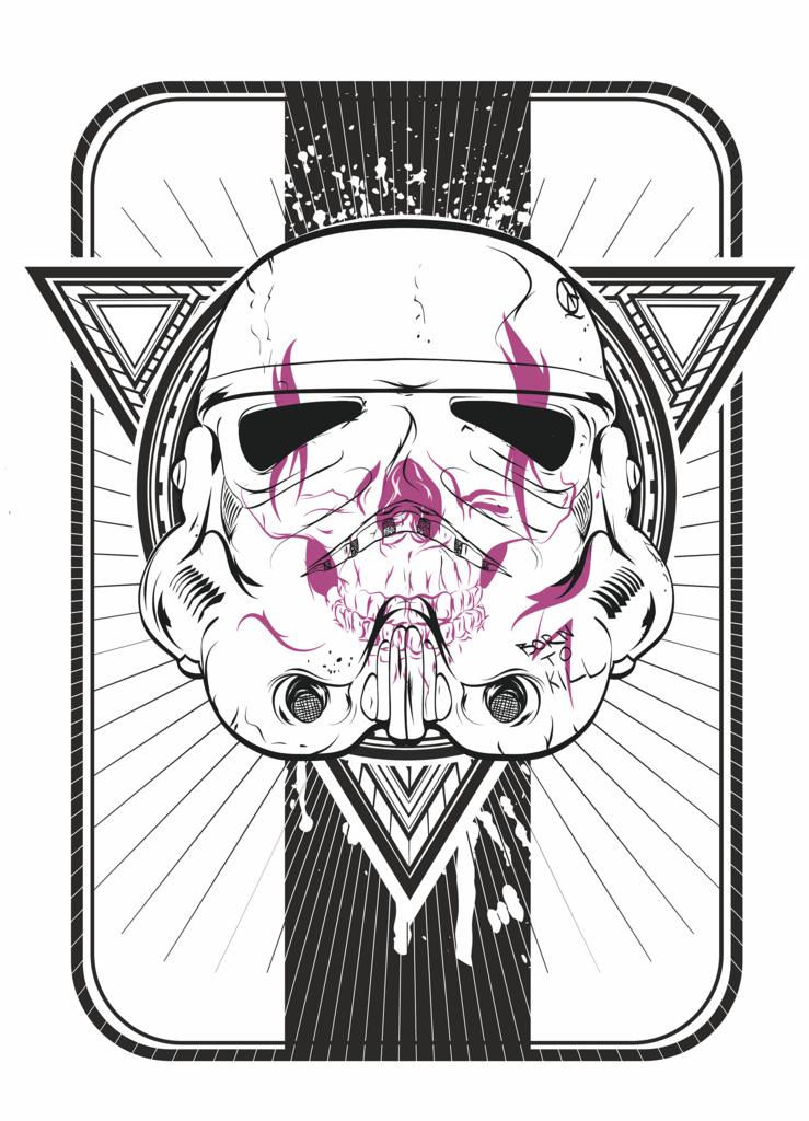 739x1024 Vector Illustration Stormtrooper Vector Illustration