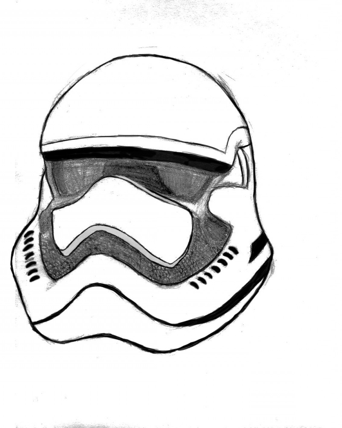 1134x1419 Star Wars Stormtrooper Helmet Drawing Geekchicpro