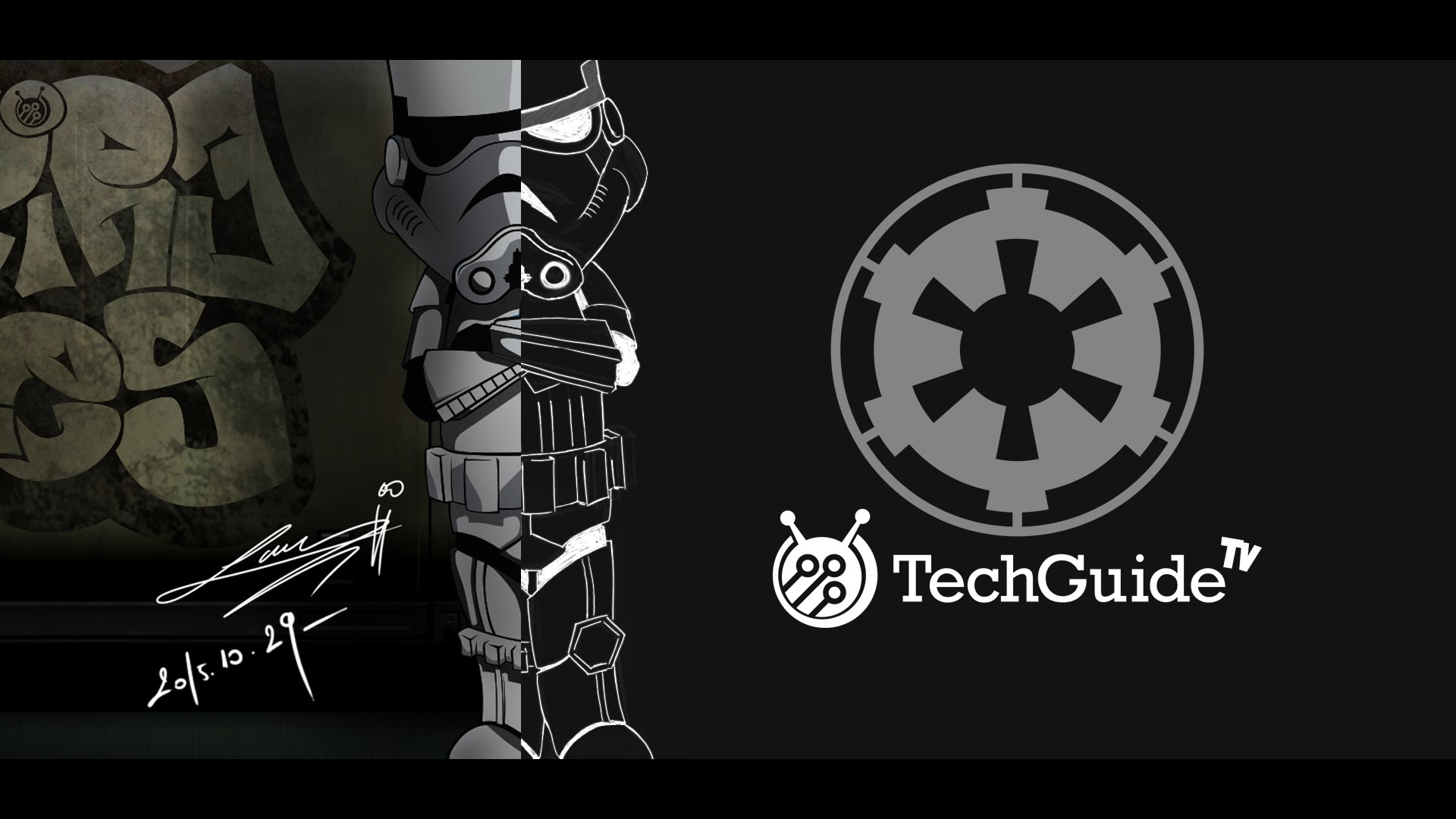 1920x1080 Stormtrooper (Star Wars) Speed Paint And Vector Art