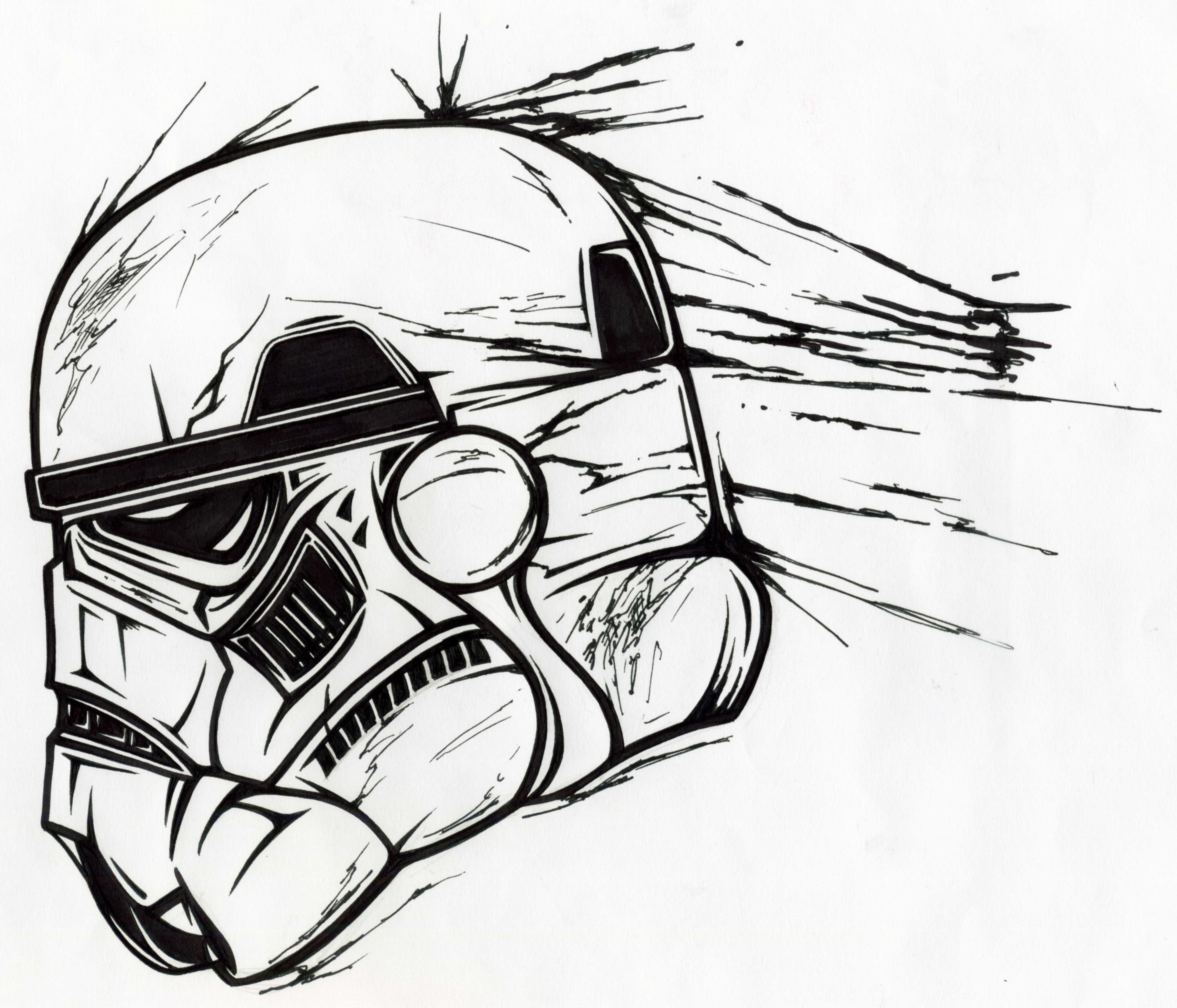 4602x3940 Stormtrooper Helmet Drawing Bcca
