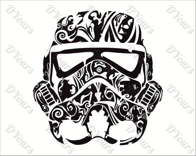 642x514 Stormtrooper Star Wars Abstract Floral Vector Model Svg Cdr Etsy