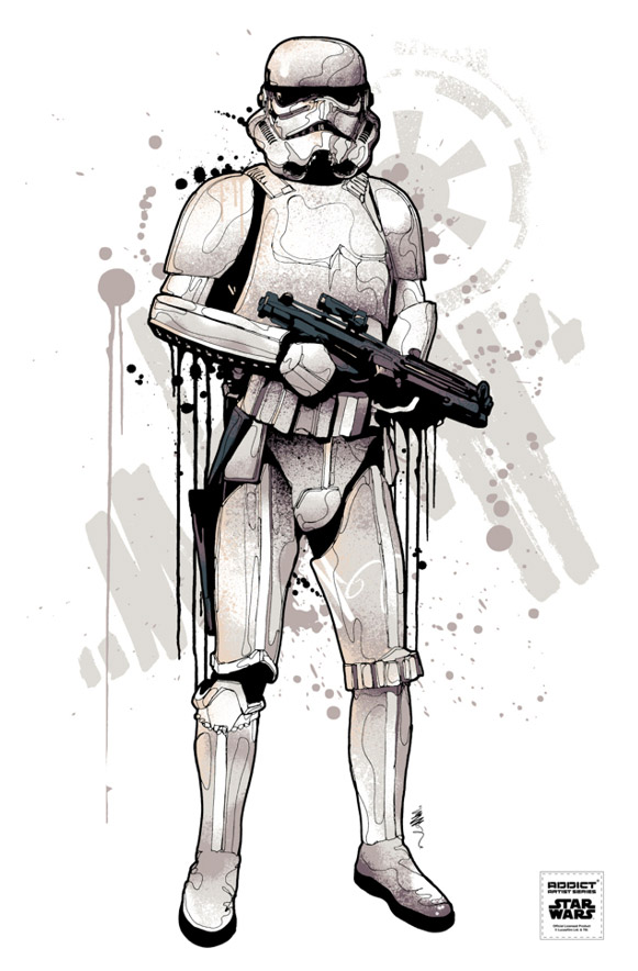 581x884 30 Amazing Star Wars Inspired Designs Amp Illustrations