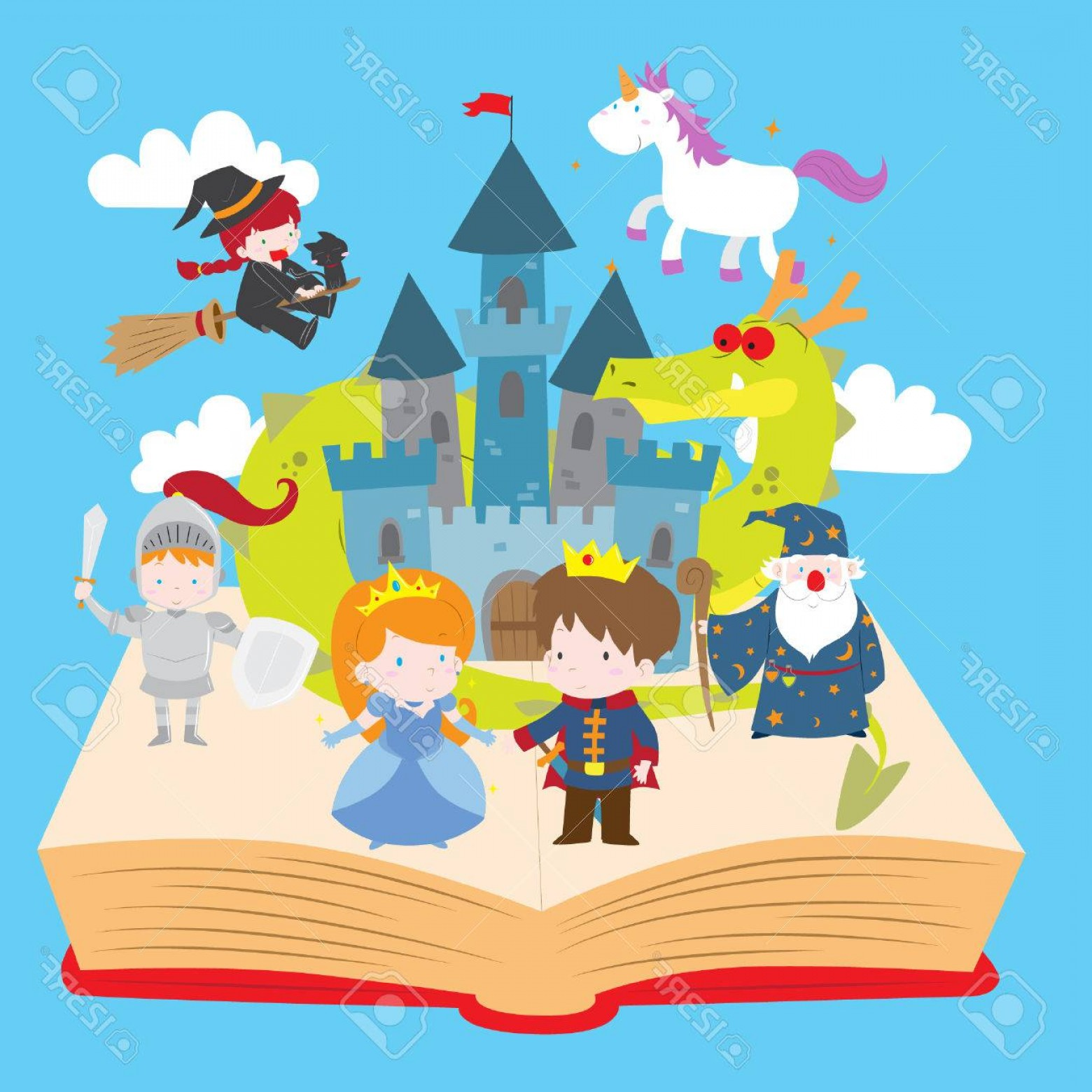 1560x1560 Photostock Vector Cartoon Vector Illustration Of Cute Magical