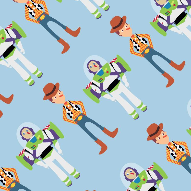 780x780 Toy Story Buddies Seamless Pattern
