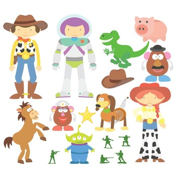 350x350 Toy Story Digital Clipart Amp Vector Set By Julia Sunrain Graphics