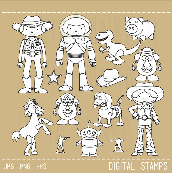 570x571 Woody Toy Story Vector Awesome Toy Story Digital Stamp Digital