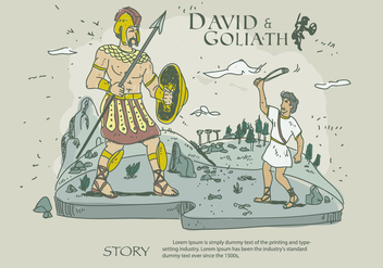 352x247 David And Goliath Story Cartoon Vector Illustration Free Vector