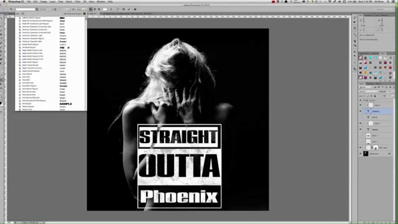 1280x720 How To Create The Straight Outta Compton Logo Effect In Photoshop