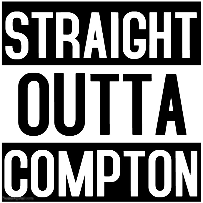 690x690 Straight Outta Compton Template Postermywall