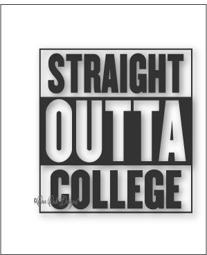 299x367 Straight Outta College Compton Style Svg File Vector Dxf Pdf Etsy