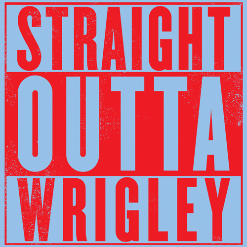 500x500 Straight Outta Wrigley Chicago Cubs North Side Gangster T Shirt