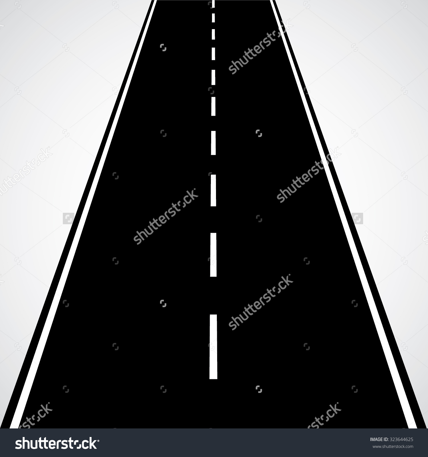 1500x1600 Road Clipart Straight Road